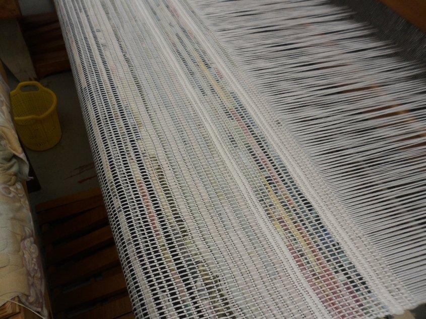 Tissage d'une catalogne